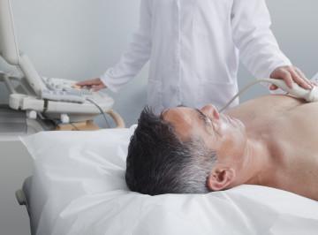 Man having an ultrasound